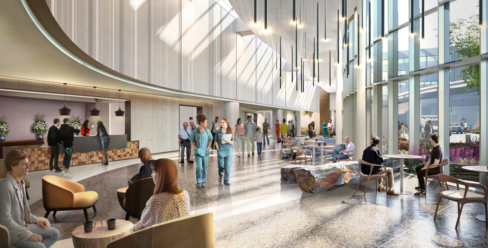 Project Future Care rendering of lobby