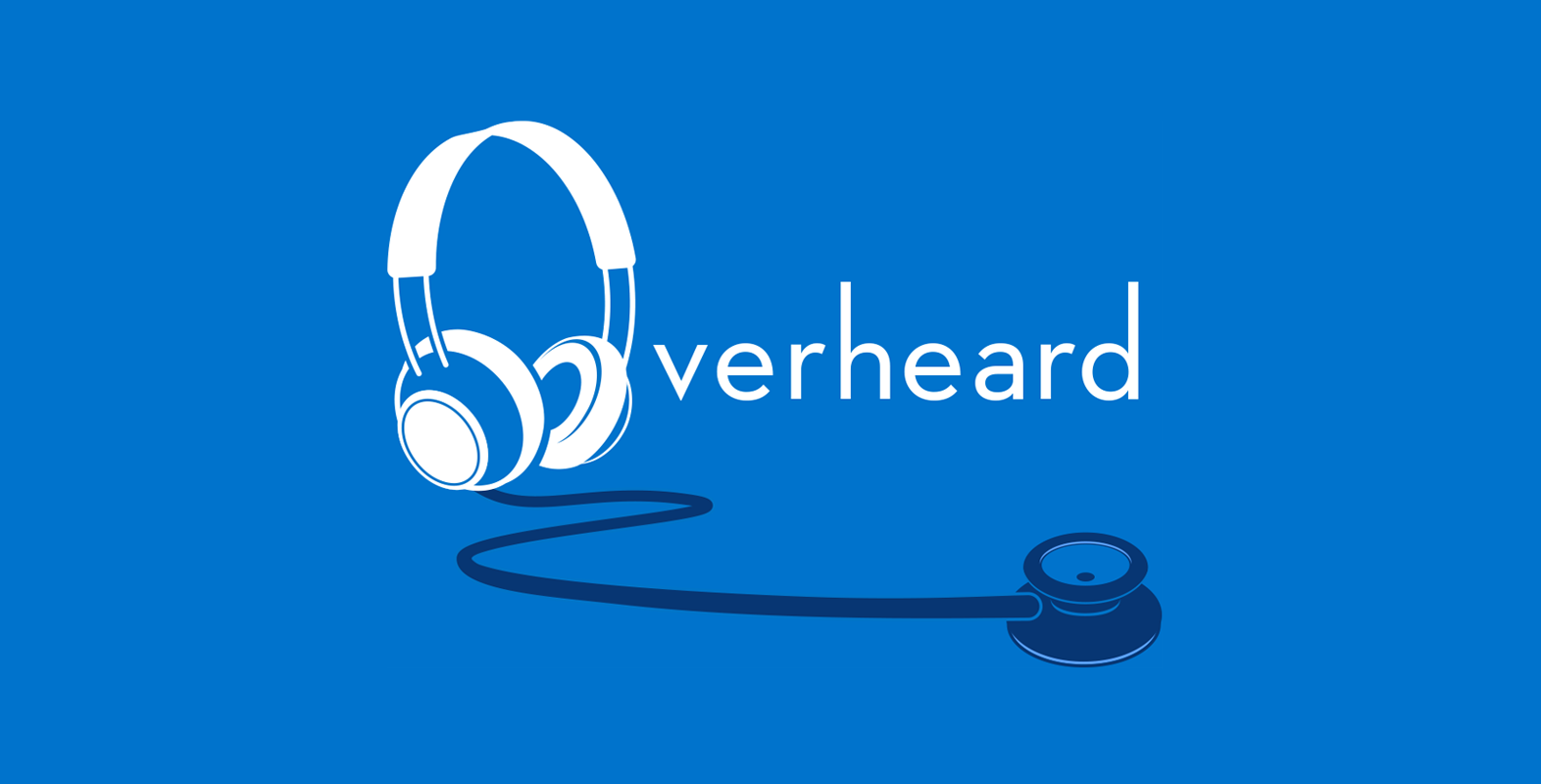 logo for overheard podcast