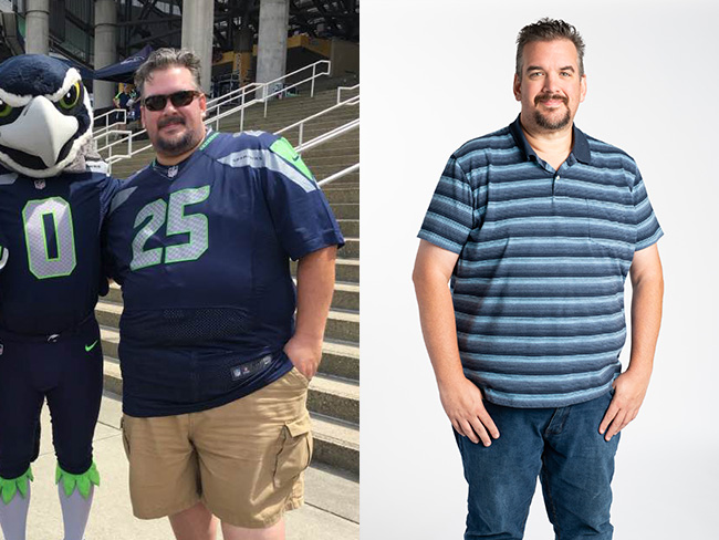 Chris Zito before and after weight loss picture