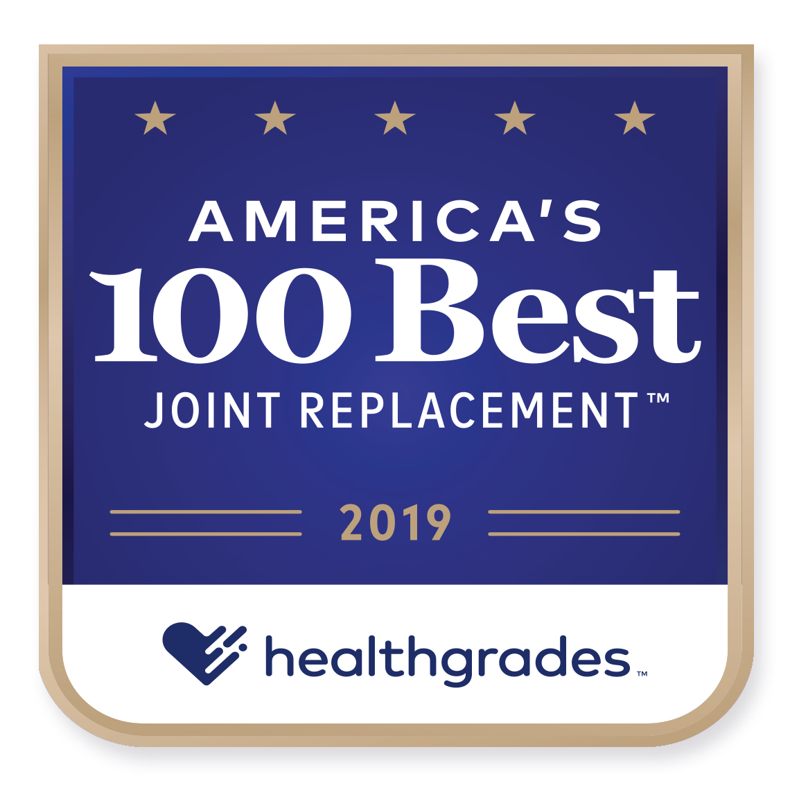 Americas 100 Best Joint Replacement 2019 Healthgrades Award