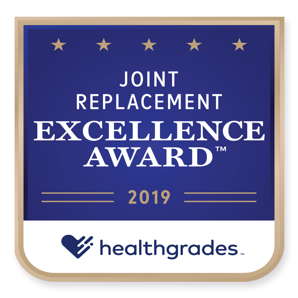 Joint Replacement Healthgrades Award 2019