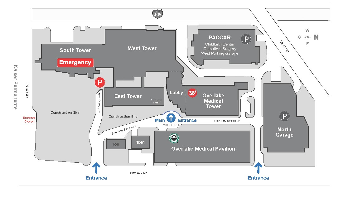 Overlake campus map