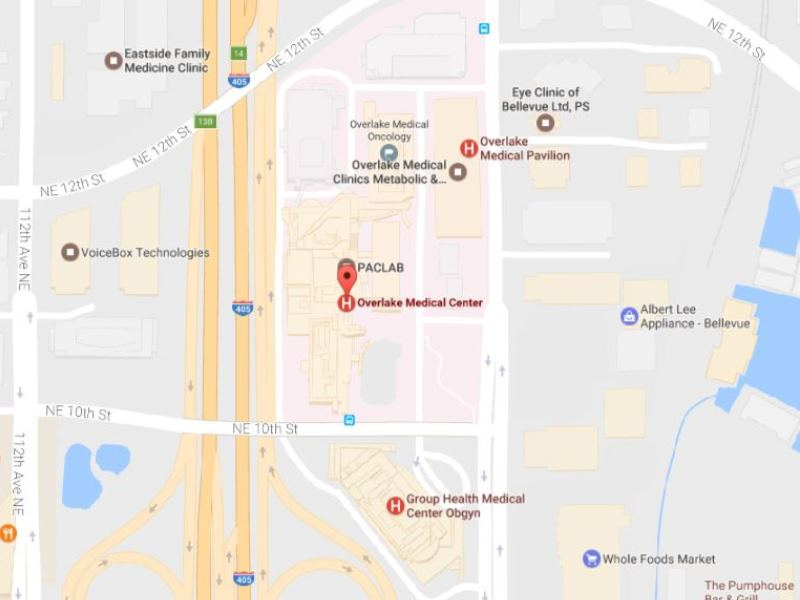 Overlake Medical Center map
