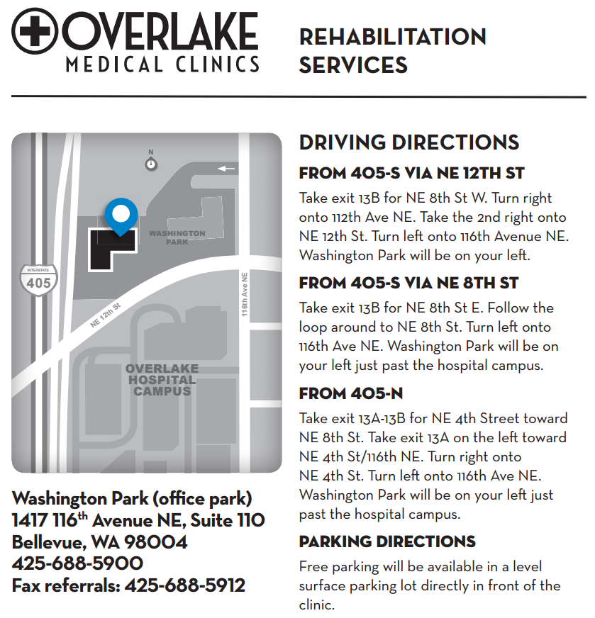 Overlake Medical Clinics Outpatient Services