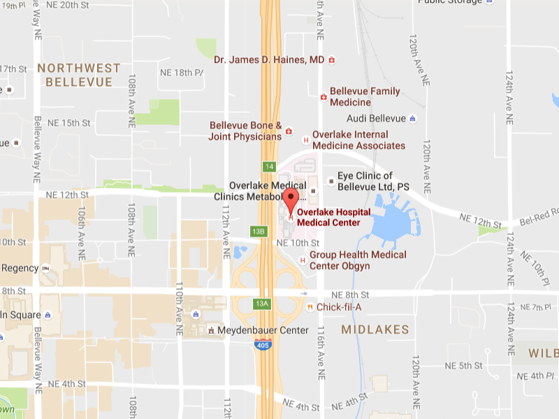 Overlake Colon & Rectal Clinic Map