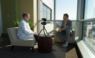 Dr. Eric Shipley speaks with KING TV's Jake Whittenberg