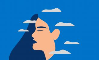 illustration-of-woman's-profile-with-clouds-surrounding-her