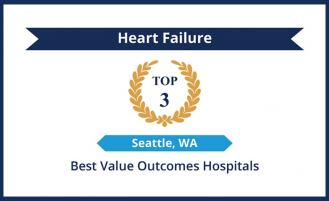 top 3 in seattle for best value outcomes hospitals for heart failure